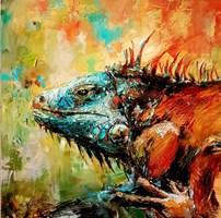 Obraz do salonu artysty Grażyna Mucha pod tytułem Jaszczur 1