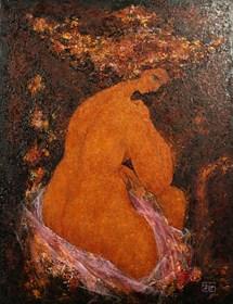 Obraz do salonu artysty Piotr Januszkiewicz pod tytułem Venus przed lustrem