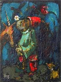 Obraz do salonu artysty Piotr Januszkiewicz pod tytułem Jednorożec