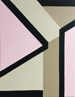 Living room painting by Katarzyna Chmiel titled Geometric4