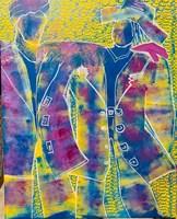 Obraz do salonu artysty Iwona Molecka pod tytułem Coats friends