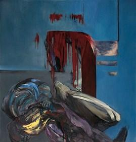 Living room painting by Magdalena Siejko titled Break up 3