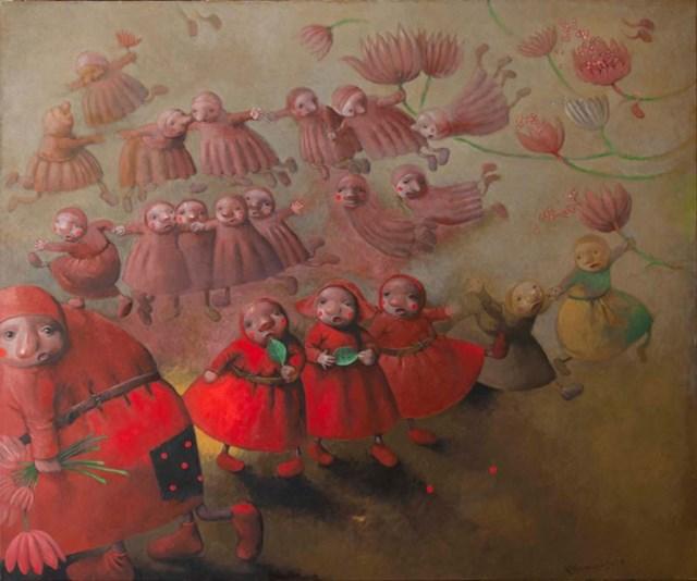 Obraz do salonu artysty Katarzyna Słowiańska-Kucz pod tytułem Magnolie