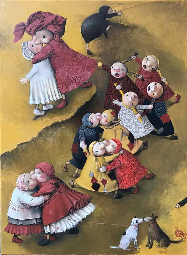 Obraz do salonu artysty Katarzyna Słowiańska-Kucz pod tytułem Pocałunki