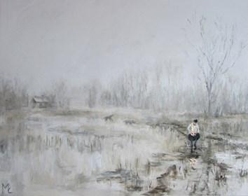 Obraz do salonu artysty Misia Łukasiewicz pod tytułem  Po kolędzie z cyklu Dni Świąteczne