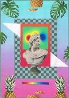 Living room painting by Agnieszka Giera titled Vaporwave 5