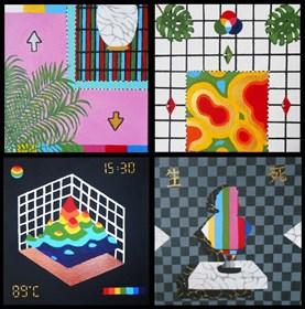 Obraz do salonu artysty Agnieszka Giera pod tytułem Seria 4 obrazów Images #001/#004