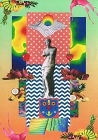 Obraz do salonu artysty Agnieszka Giera pod tytułem kolaż Vaporwave 10