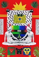 Obraz do salonu artysty Agnieszka Giera pod tytułem kolaż Vaporwave 9