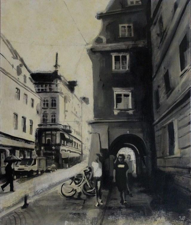 Obraz do salonu artysty Monika Dałek pod tytułem W poszukiwaniu miejsca bez lez