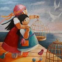Obraz do salonu artysty Mirella Stern pod tytułem Myśli niezapisane