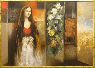 Obraz do salonu artysty Mira Skoczek-Wojnicka pod tytułem Nie-spodziewany ogród