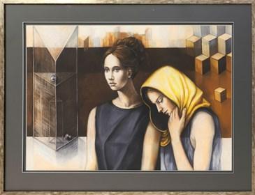 Obraz do salonu artysty Mira Skoczek-Wojnicka pod tytułem Bez tytułu I