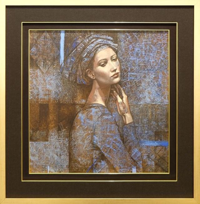 Obraz do salonu artysty Mira Skoczek-Wojnicka pod tytułem Niebieski turban II