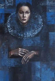 Obraz do salonu artysty Mira Skoczek-Wojnicka pod tytułem Znowu Założyłam Kryze