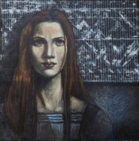 Obraz do salonu artysty Mira Skoczek-Wojnicka pod tytułem Warkoczyki I Koronka