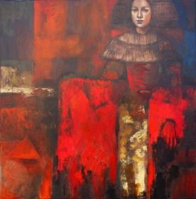 Obraz do salonu artysty Mira Skoczek-Wojnicka pod tytułem Barokowa Infantka