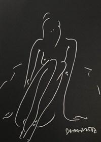 Obraz do salonu artysty Joanna Sarapata pod tytułem Akt 1 - szkic na czarnym papierze