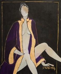 Obraz do salonu artysty Joanna Sarapata pod tytułem Akt w fiolecie