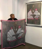 Living room  by Joanna Sarapata titled Silk shawl