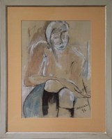 Living room painting by Joanna Sarapata titled Woman