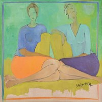 Living room painting by Joanna Sarapata titled Meeting