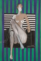 Obraz do salonu artysty Joanna Sarapata pod tytułem Akt w fotelu