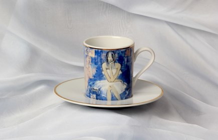 "Living room Other by Joanna Sarapata titled Espresso cup - ""Le monde"" Women In Chaos"