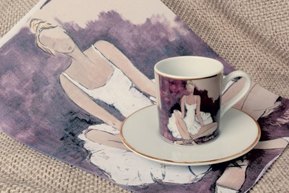 Living room Other by Joanna Sarapata titled Espresso cup - Ballerina I