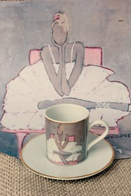 Living room Other by Joanna Sarapata titled Espresso cup - Ballerina III