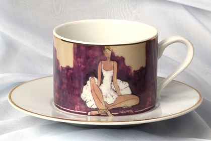 Living room Other by Joanna Sarapata titled Tea cup - Ballerina I