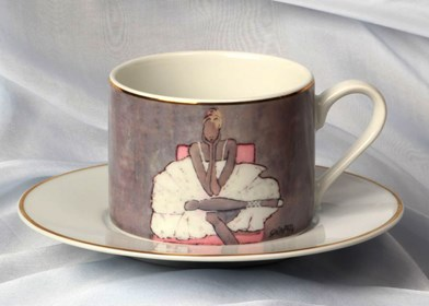 Living room Other by Joanna Sarapata titled Tea cup - Ballerina III