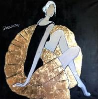 Obraz do salonu artysty Joanna Sarapata pod tytułem Black swan