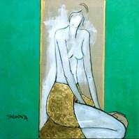Obraz do salonu artysty Joanna Sarapata pod tytułem Portret w oknie