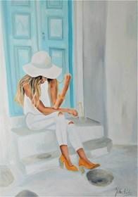 Obraz do salonu artysty Julia Sara Reiter pod tytułem MINT GREY YELLOW