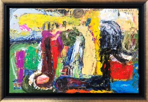 Obraz do salonu artysty Stanisław Młodożeniec pod tytułem Saint