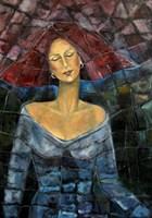 Obraz do salonu artysty Krystyna Ruminkiewicz pod tytułem Z marzeniami pod powiekami