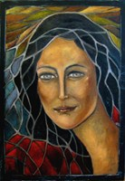 Living room painting by Krystyna Ruminkiewicz titled One stained glass window