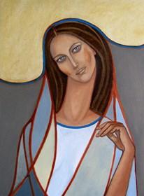 Obraz do salonu artysty Krystyna Ruminkiewicz pod tytułem Taka jedna w chuście