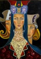 Obraz do salonu artysty Krystyna Ruminkiewicz pod tytułem Taka jedna koronkowa