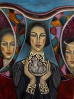 Obraz do salonu artysty Krystyna Ruminkiewicz pod tytułem Taka jedna, mądrość, duma i niewinność