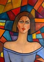 Obraz do salonu artysty Krystyna Ruminkiewicz pod tytułem Taka jedna w geometrii