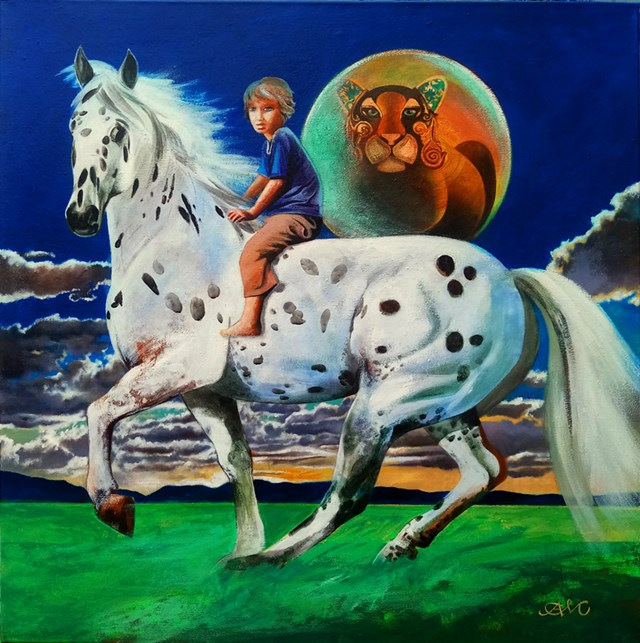 Obraz do salonu artysty Anna Malinowska pod tytułem Appaloosa