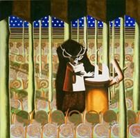 Obraz do salonu artysty Anna  Malinowska pod tytułem Jeleń w lesie