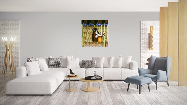 Jeleń w lesie - wizualizacja pracy autora Anna Malinowska