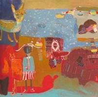 Obraz do salonu artysty Nina Rostkowska pod tytułem Przyjaźń z wewnętrznym dzieckiem