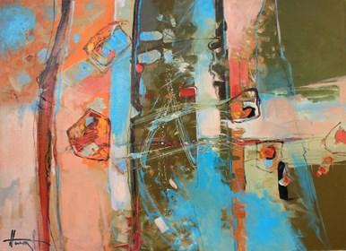 Obraz do salonu artysty Henadzy Havartsou pod tytułem Kryształy