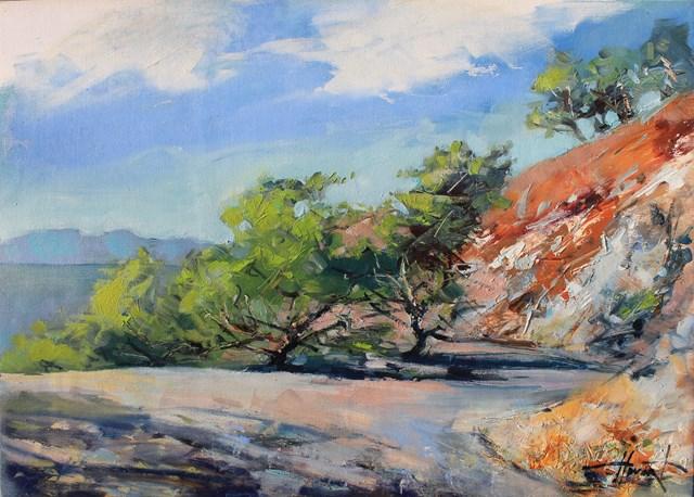 Obraz do salonu artysty Henadzy Havartsou pod tytułem Górska droga