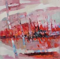 Obraz do salonu artysty Henadzy Havartsou pod tytułem Ciepły wieczór