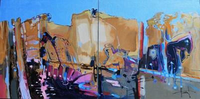 Obraz do salonu artysty Henadzy Havartsou pod tytułem IT mind (dyptyk)
